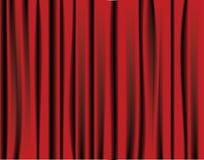 Cortina roja Imagen de archivo