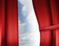 Cortina roja Imagen de archivo libre de regalías