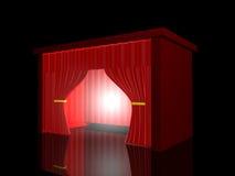 Cortina roja Fotografía de archivo libre de regalías