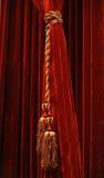 Cortina roja con el vassel Foto de archivo libre de regalías