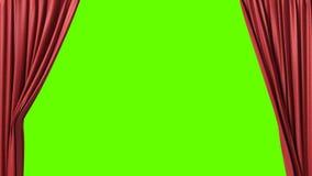 Cortina roja de apertura y de cierre stock de ilustración