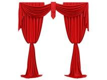 Cortina roja de un teatro ilustración del vector