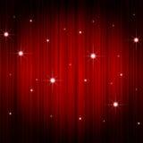 Cortina roja del teatro Fotografía de archivo