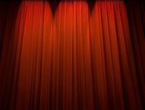 Cortina roja del teatro Imágenes de archivo libres de regalías