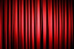 Cortina roja del teatro Imagen de archivo libre de regalías