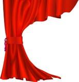 Cortina roja del terciopelo stock de ilustración