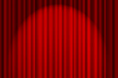 Cortina roja en etapa Imagenes de archivo