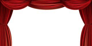 Cortina roja grande ilustración del vector