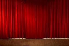 Cortina roja hermosa Foto de archivo libre de regalías