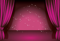 Cortina roxa Foto de Stock
