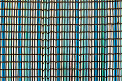 Cortina velha ou textura cega de bastões coloridos Fotografia de Stock Royalty Free