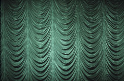 Cortina verde Fotografía de archivo