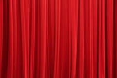 A cortina vermelha fotos de stock