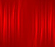 Cortina vermelha Foto de Stock
