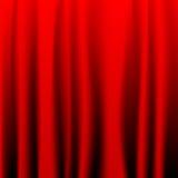 Cortina vermelha Foto de Stock Royalty Free