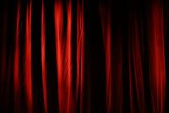 Cortina vermelha Fotos de Stock