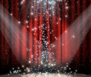 Cortina vermelha com estrela Foto de Stock Royalty Free