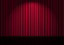 Cortina vermelha de veludo do vetor Fotografia de Stock Royalty Free