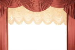 Cortina vermelha do estágio com um tull imagem de stock royalty free