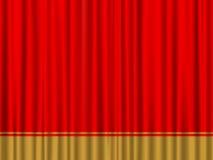 Cortina vermelha do ouro Imagem de Stock Royalty Free