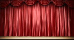 Cortina vermelha do teatro