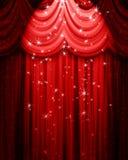Cortina vermelha do teatro Imagens de Stock