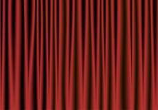 Cortina vermelha e preta do teatro ilustração royalty free