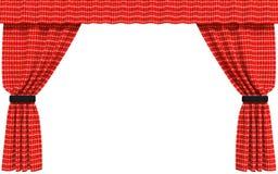 Cortina vermelha isolada ilustração do vetor
