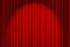 Cortina vermelha no estágio imagens de stock