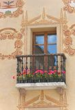 Cortina window - Dolomites - Italy Stock Photography