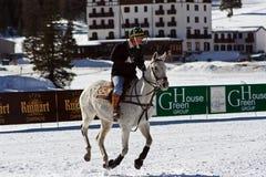 Cortina winter polo cup 2008. Practice Royalty Free Stock Photos