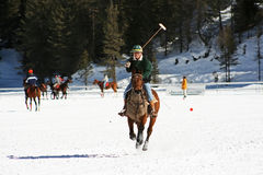 Cortina winter polo cup 2008. Practice Stock Photography