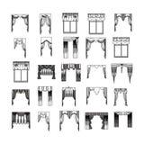 cortinas Imágenes de archivo libres de regalías