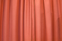 Cortinas. Photo of plush red theater curtains Stock Photo