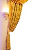 Cortinas acima amarradas Fotos de Stock Royalty Free