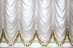 Cortinas bonitas brancas fotos de stock royalty free