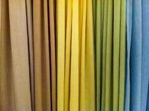 Cortinas coloreadas Imagen de archivo libre de regalías