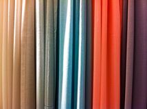 Cortinas coloridas brilhantes Fotografia de Stock Royalty Free