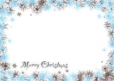 Cortinas da neve do Feliz Natal ilustração royalty free