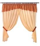 Cortinas da tela em um fundo branco Imagem de Stock Royalty Free