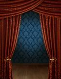 Cortinas de abertura grande Imagens de Stock Royalty Free