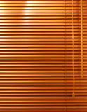 Cortinas de indicador de madeira Imagens de Stock