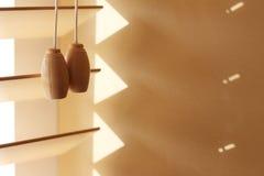 Cortinas de janela de madeira Fotos de Stock Royalty Free