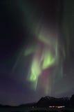 Cortinas de la aurora boreal sobre Nord Lofoten Imágenes de archivo libres de regalías