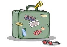 Cortinas de la maleta del recorrido Imagen de archivo libre de regalías