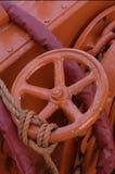 Cortinas de la naranja Fotografía de archivo libre de regalías