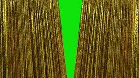 Cortinas de lujo hermosas del oro, abertura y animación cerrada 3d HD 1080 Pantalla verde libre illustration