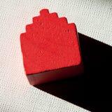 Cortinas de madera de la luz de la casa Foto de archivo libre de regalías