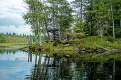 Cortinas de Rocky Outcrop And Abandoned Duck imagem de stock royalty free