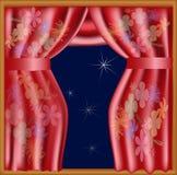 Cortinas de seda chinas Fotos de archivo libres de regalías
